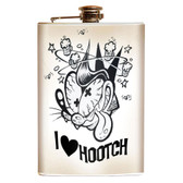Shawn Dickinson I Love Hooch Novelty Retro Stainless Steel Flask