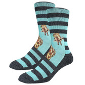 Men's Crew Socks Giraffe on Striped Footwear