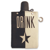 Drink 8oz Canvas Canteen Flask Travel Beverage Container