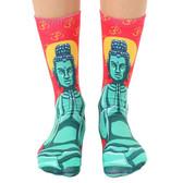 Unisex Men's or Women's Crew Socks Buddha Meditation Symbol
