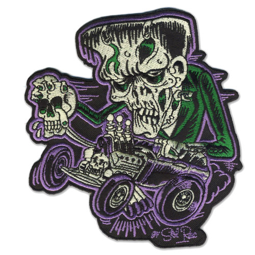 Sol Rac Monster Rod Frankenstein Patch Embroidered Iron On Applique