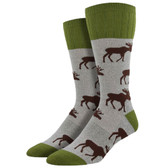 Men's Boot Socks Outlands Moose Light Gray