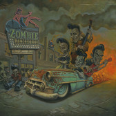 4 Ghouls In Search Of A Gig by P'gosh Retro Rockabilly Monster Tattoo Art Print