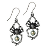 Alchemy Gothic Glistercreep Spider Dangle Earrings Pewter Jewelry E397
