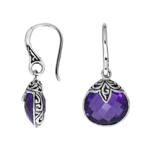 Amethyst Sterling Silver Pear Shape Dangle Earrings
