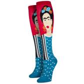 Women's Knee High Socks Frida Kahlo Iconic Artist Red