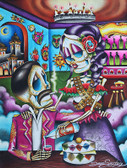 Gracias Mi Amor by Dave Sanchez Canvas Giclee Tattoo Art Print Sugar Skull