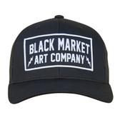 Electric Black Market Art Snap Back Retro Trucker Hat