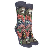 Women's Trouser Crew Socks Floral Sloths Novelty Active Footwear