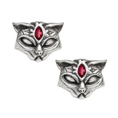Alchemy Gothic Egyptian Sacred Cat Stud Earrings Pewter Jewelry E406