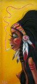 Sugarbird by Candy Canvas Giclee Tattoo Art Print Native American Pin Up Girl