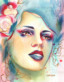 Love Lost by Cambria Canvas Giclee Tattoo Art Print Broken Promises Beautiful Woman