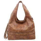 The Amia Hobo Brown Purse Bohemian Tote Crossbody Shoulder Bag