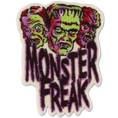 Monster Freak Frankenstein Zombie Werewolf Patch Embroidered Iron On Applique