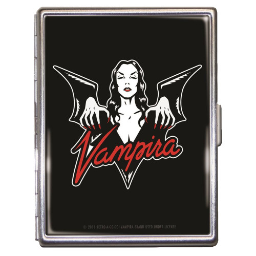 Vampira Batty Halloween Monster ID Case Business Card Holder Wallet