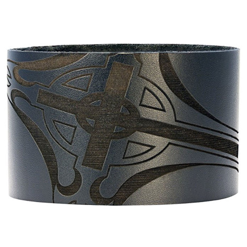 Bico Pacific Jewelry Black Leather Cuff Bracelet Wristband Surf Wear BWB10BL