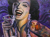Marilyn Noir by Mike Bell Canvas Giclee Tattoo Art Print Tattooed Bombshell