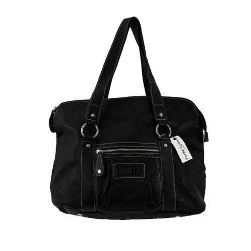 Black Purse Faux Leather Shoulder Bag