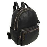 The Dora Backpack Purse Black Vegan Leather School Bag