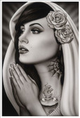 Tattooed Mary by Spider Tattoo Art Print Adrian Castrejon