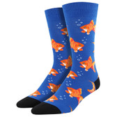 Men's Crew Socks Sofishticated Tropical Freshwater Fish Blue