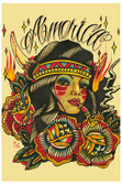 America by Johnny Gargan Tattoo Art Print Native American Indian