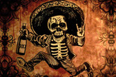 Posada by Shayne of the Dead Bohner Tattoo Art Print Skeleton