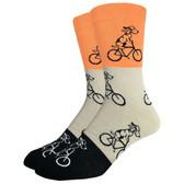Men's Crew Socks Dogs Riding Bikes