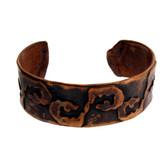Copper cuff bracelet.