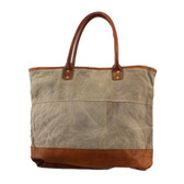 Large Women's Plain Cotton Shoulder Tote Bag Recycled Canvas
