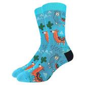 Men's Crew Socks Southwestern Llamas