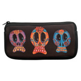 Day of the Dead Sugar Skulls Neoprene Pencil Case Cosmetic Bag Pouch