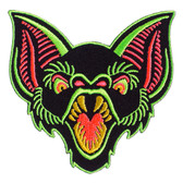 Bat Trouble Patch Embroidered Iron On Applique
