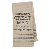 Funny Novelty Cotton Kitchen Dishtowel Great Man
