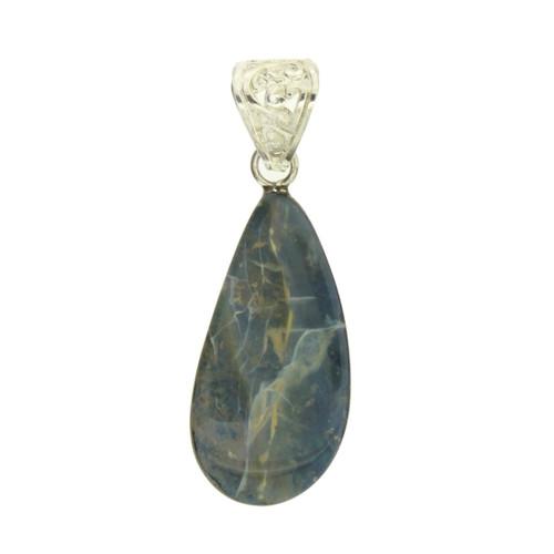 Natural Australian Boulder Opal Pendant Sterling Silver Bail