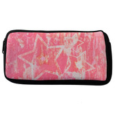 Stars Neoprene Cosmetic Case Pencil Bag Pouch Pink