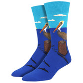 Men's Crew Socks Pelican Bird's Eye View Blue