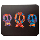 Computer Mouse Pad Desk Accessory Day of the Dead Sugar Skull Trio