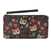 Day of the Dead Cat Wristlet or Wallet