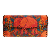 Orange Elephant  with Colorful Bohemian Style Design Wallet
