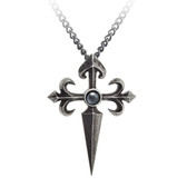 Alchemy Gothic Santiago Cross Pendant Necklace Pewter Jewelry P801