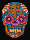 Dia Skull by Lil Chris Canvas Giclee Art Print Day of the Dead