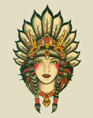 Indian Girl by Lil Chris Canvas Giclee Art Print Native American