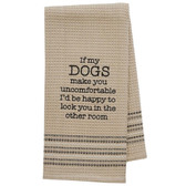 Funny Novelty Cotton Kitchen Dishtowel Happy Dog