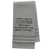 Funny Novelty Cotton Kitchen Dishtowel Coffee is Awesome