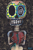 Toma Mi Corazon by Abril Andrade Fine Art Print Sugar Skull Skeleton