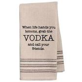 Funny Novelty Cotton Kitchen Dishtowel Grab The Vodka