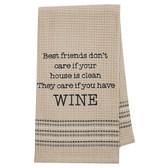 Funny Novelty Cotton Kitchen Dishtowel Best Friends and Wine