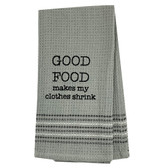 Funny Novelty Cotton Kitchen Dishtowel Good Food