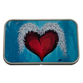 Heart Wings Rectangle Metal Storage Tin Stash Box